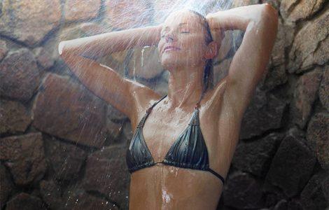 shower after spray tan