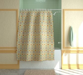 standard shower curtain