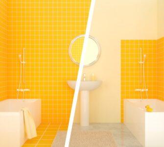 half tiled vs fully tiled bathroom