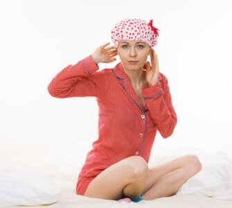 sleeping with a shower cap