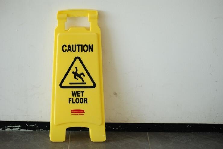 slippery bathroom floor