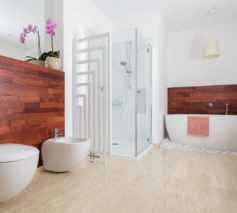 wood paneling bathroom