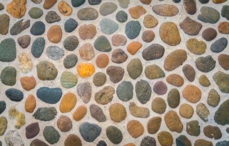 pebble shower floor grout