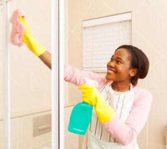 shower door cleaning